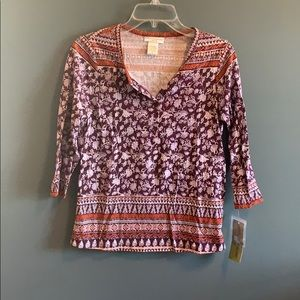 NWT Rebecca Malone patterned top